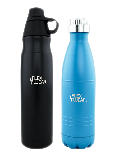 Flexwear Black and Blue Water Bottles