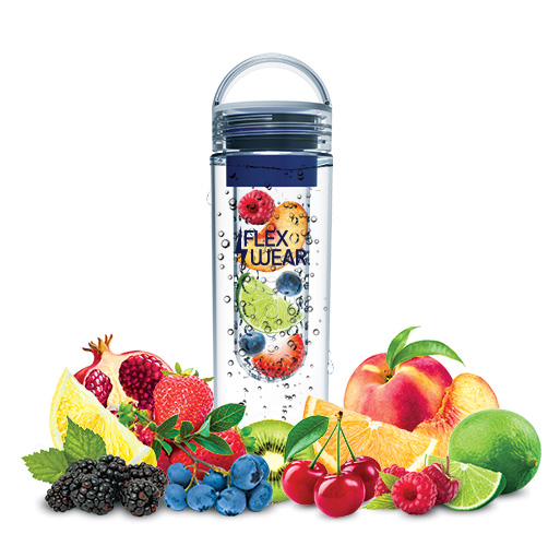 Flexwear Green and Blue Infuser Water Bottles